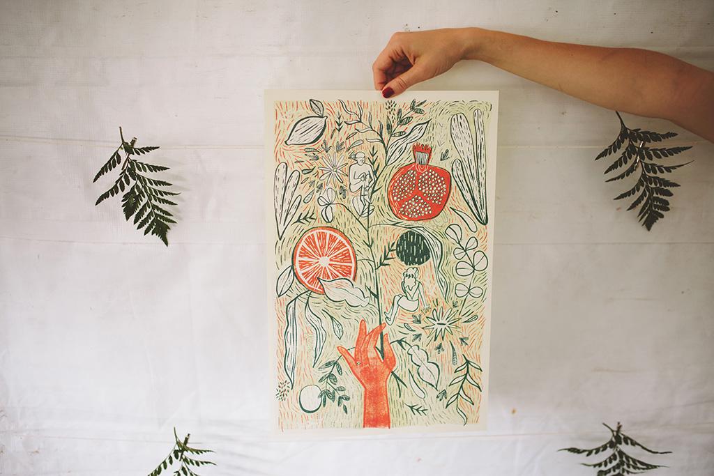Artist wedding in the woods