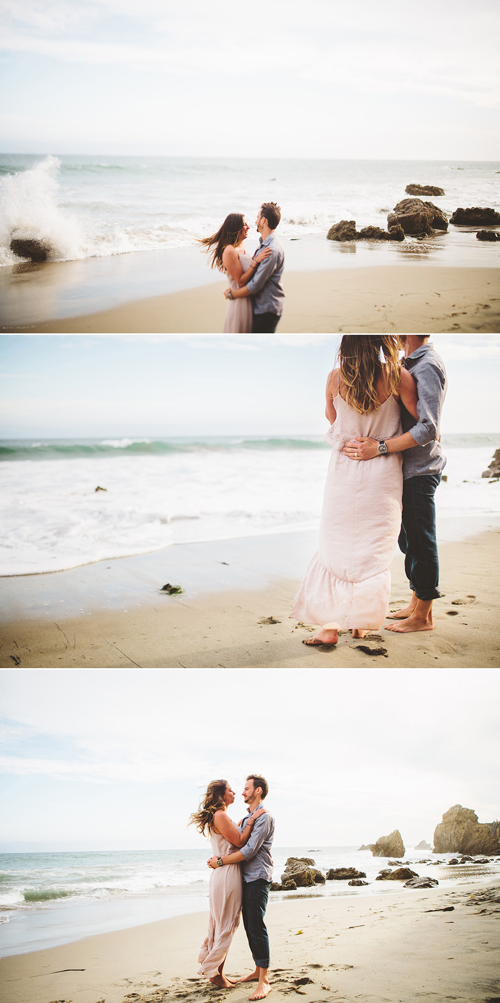 Los Angeles Wedding Photographs, Malibu beach engagement photographs