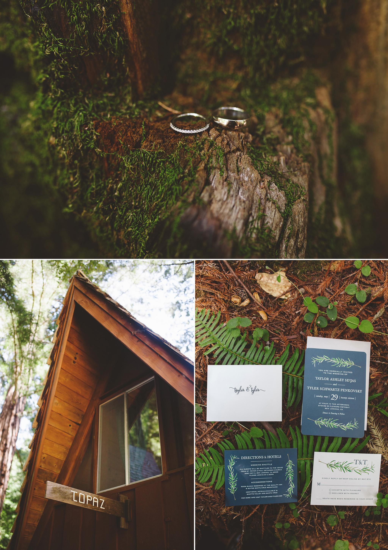Redwood wedding in Santa Cruz