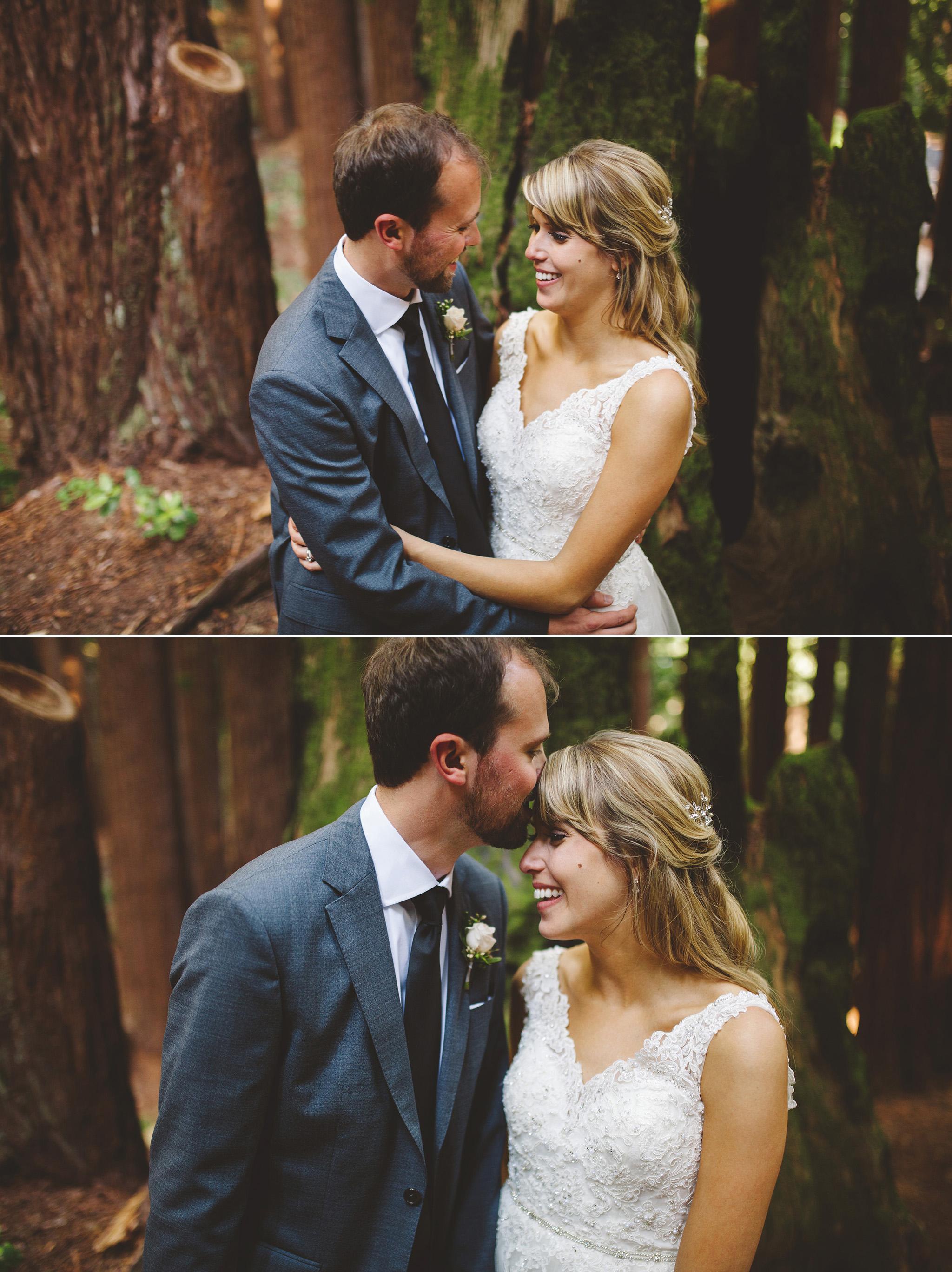 Santa Cruz California Wedding in the Redwoods
