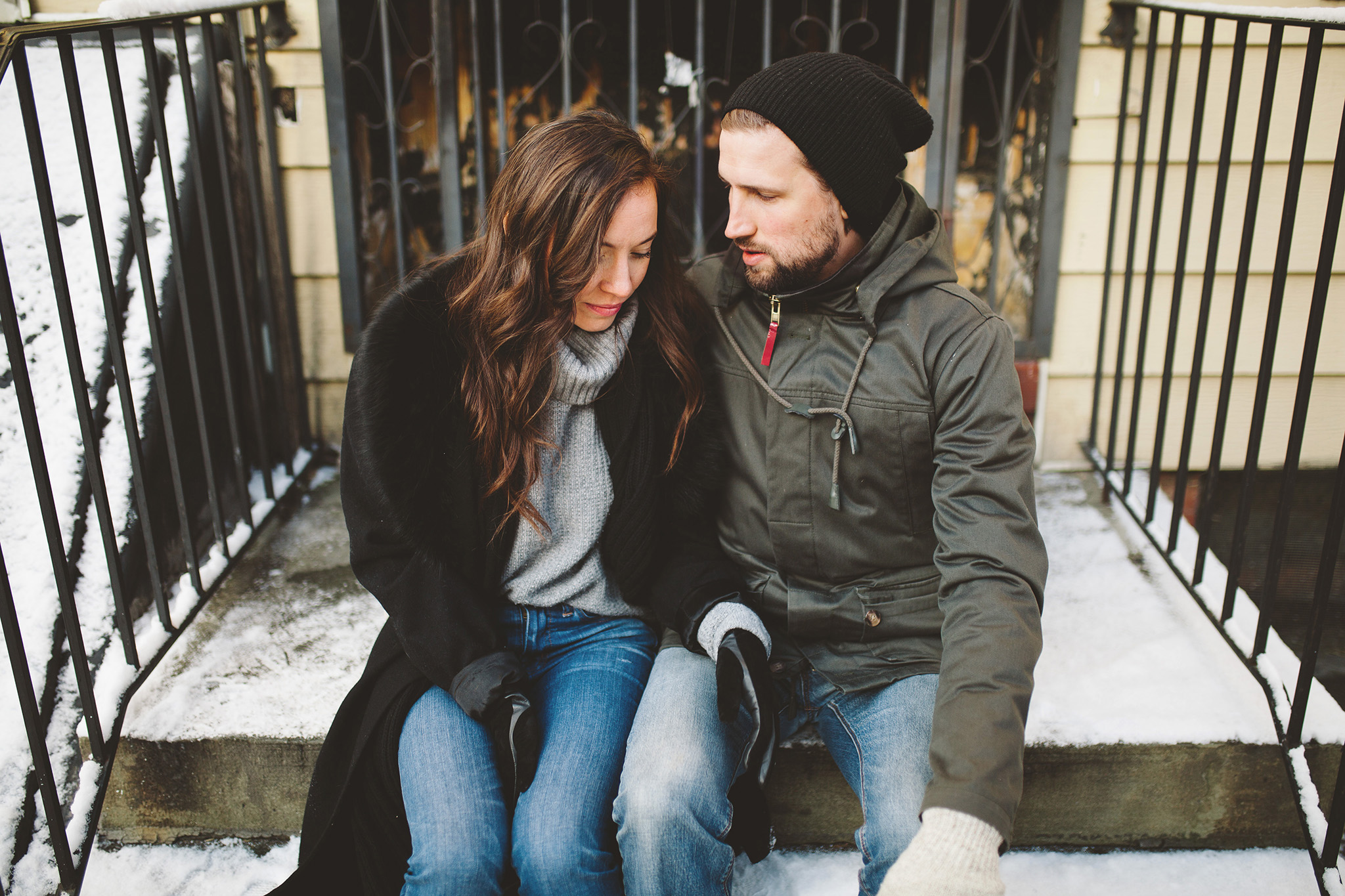 Rooftop Brooklyn Engagement session in NYC