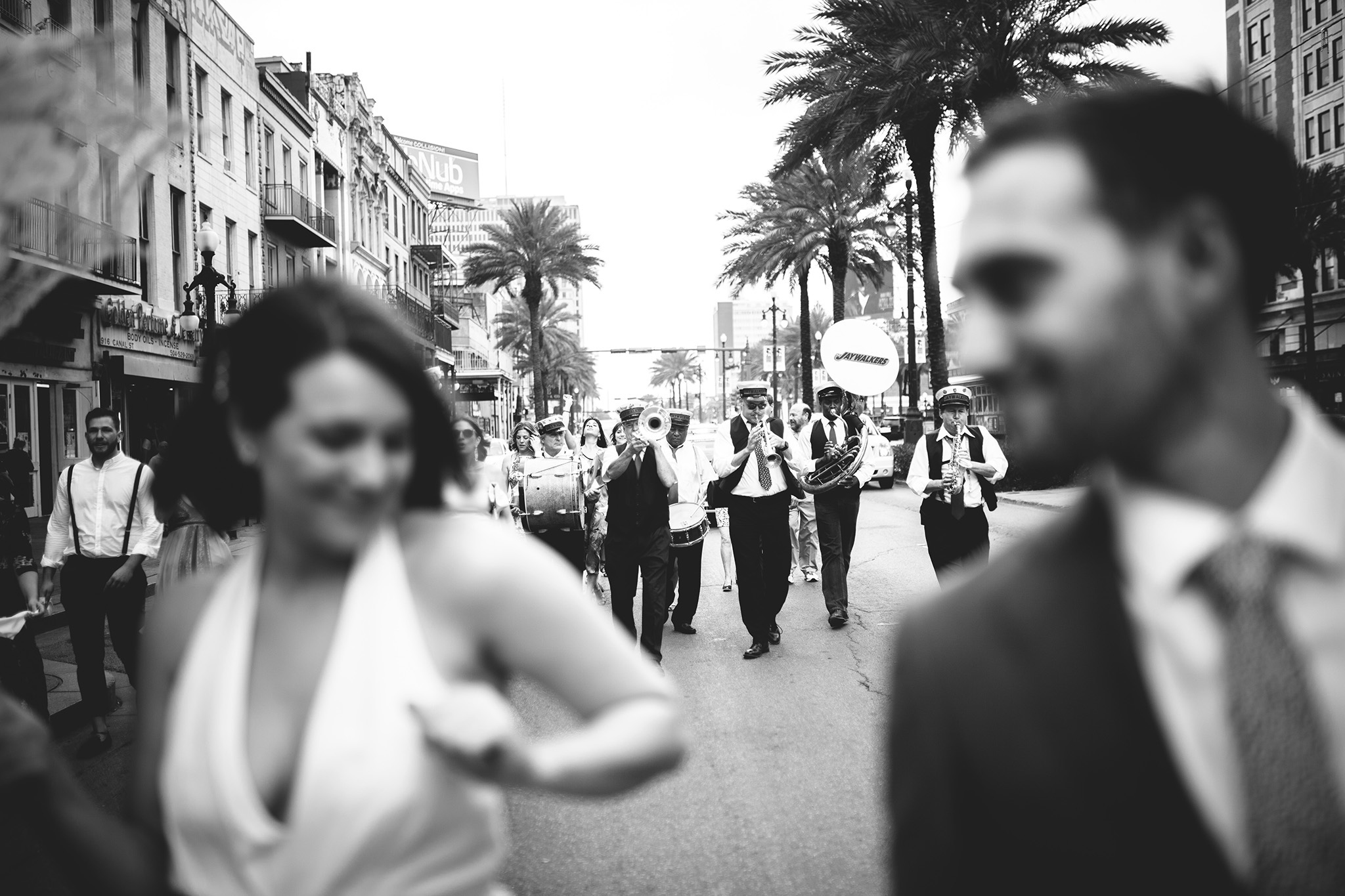 New Orleans second line wedding parade pictures