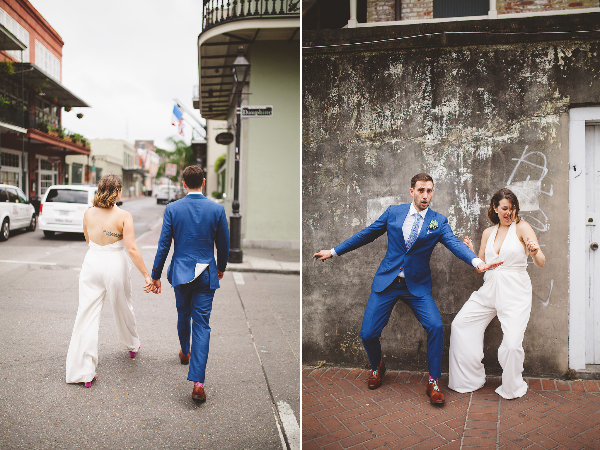 New Orleans wedding elopement pictures in the French District