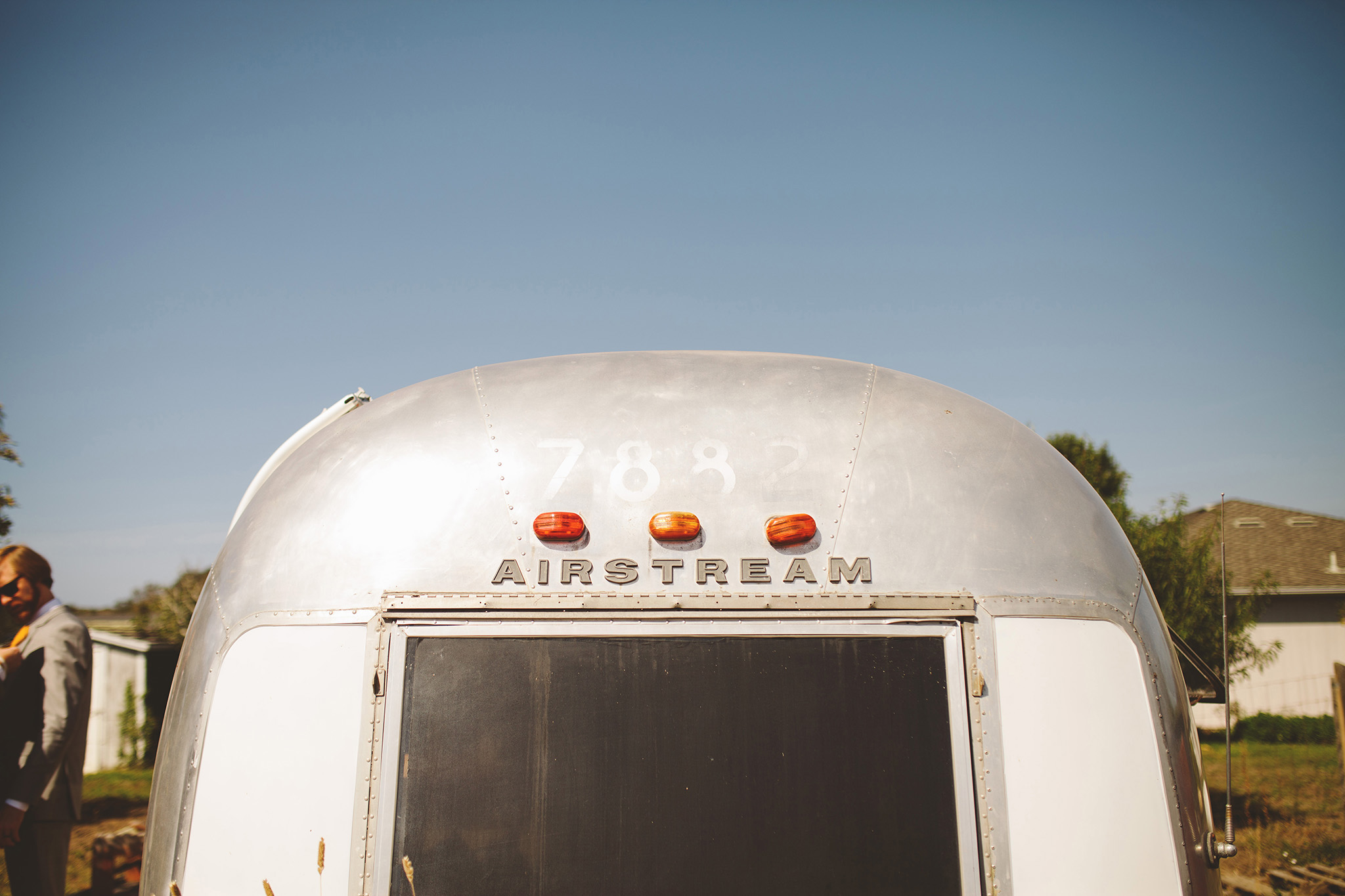 Vintage airstream wedding venue in northern California wedding pictures