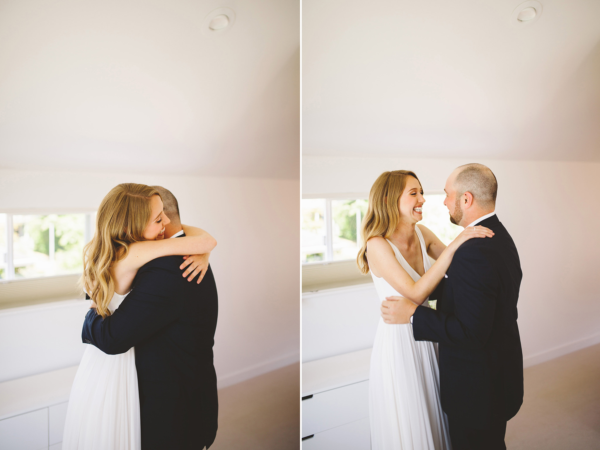 A modern first look wedding in seattle