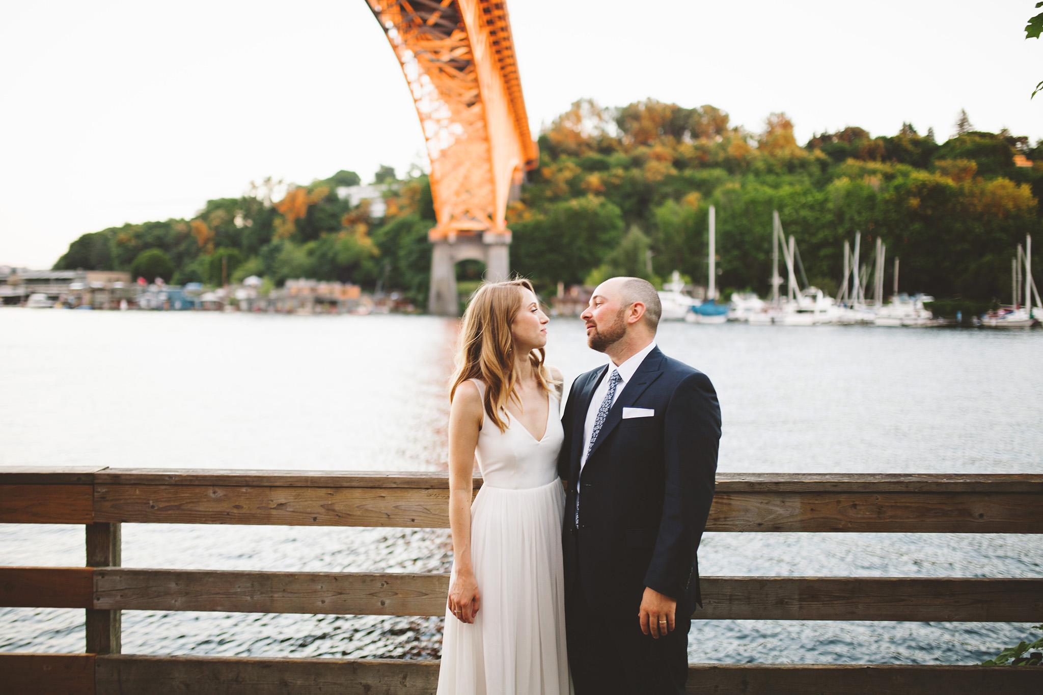 summer Rooftop wedding in Seattle