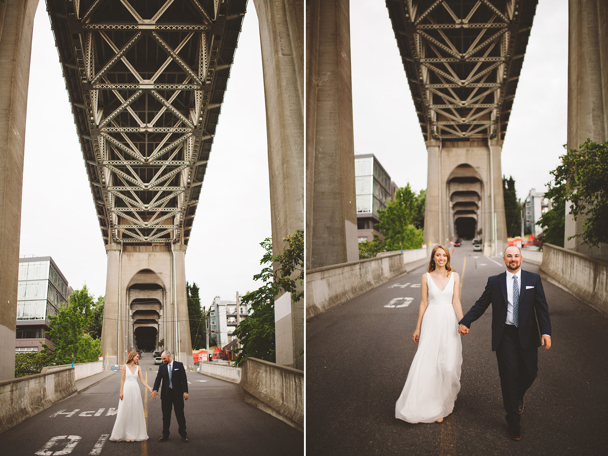 summer Rooftop wedding in Seattle