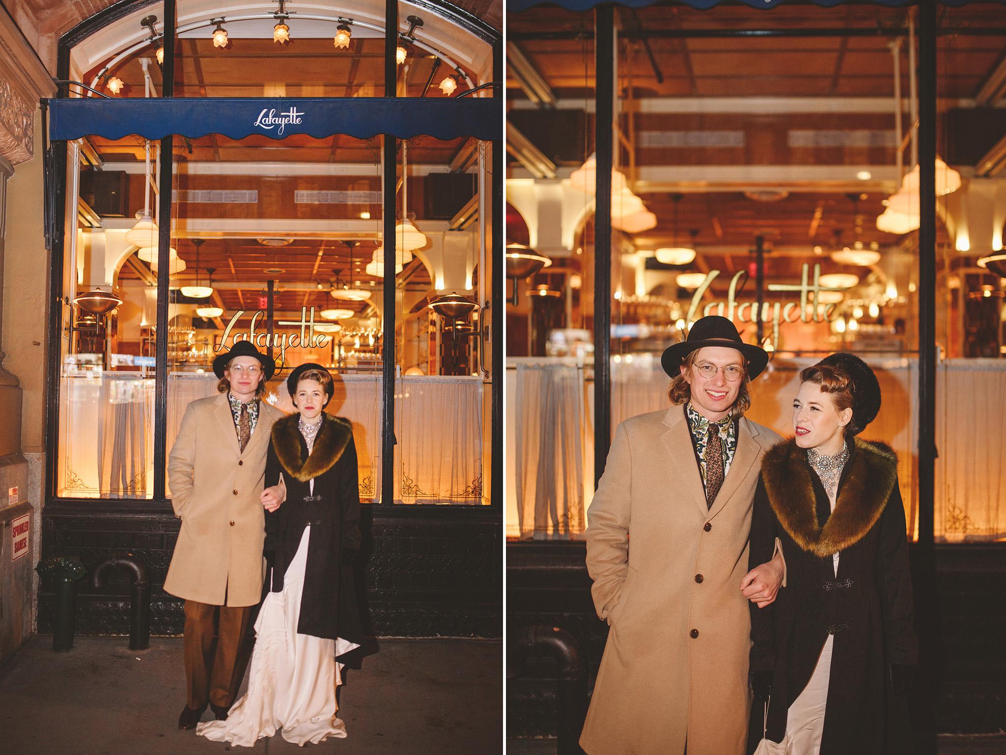 1920's inspired Intimate Manhattan Wedding at Lafayette Grand Bakery