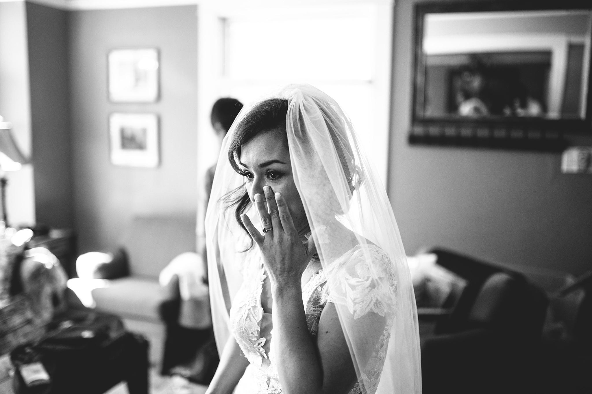 washington bride wipes tear