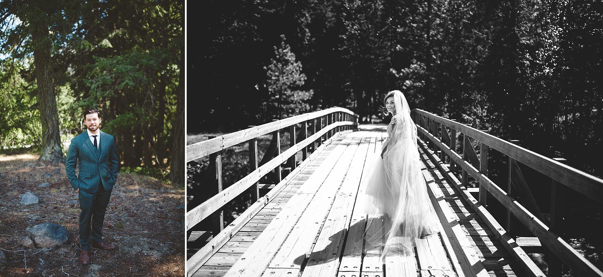 naitonal park wedding first look