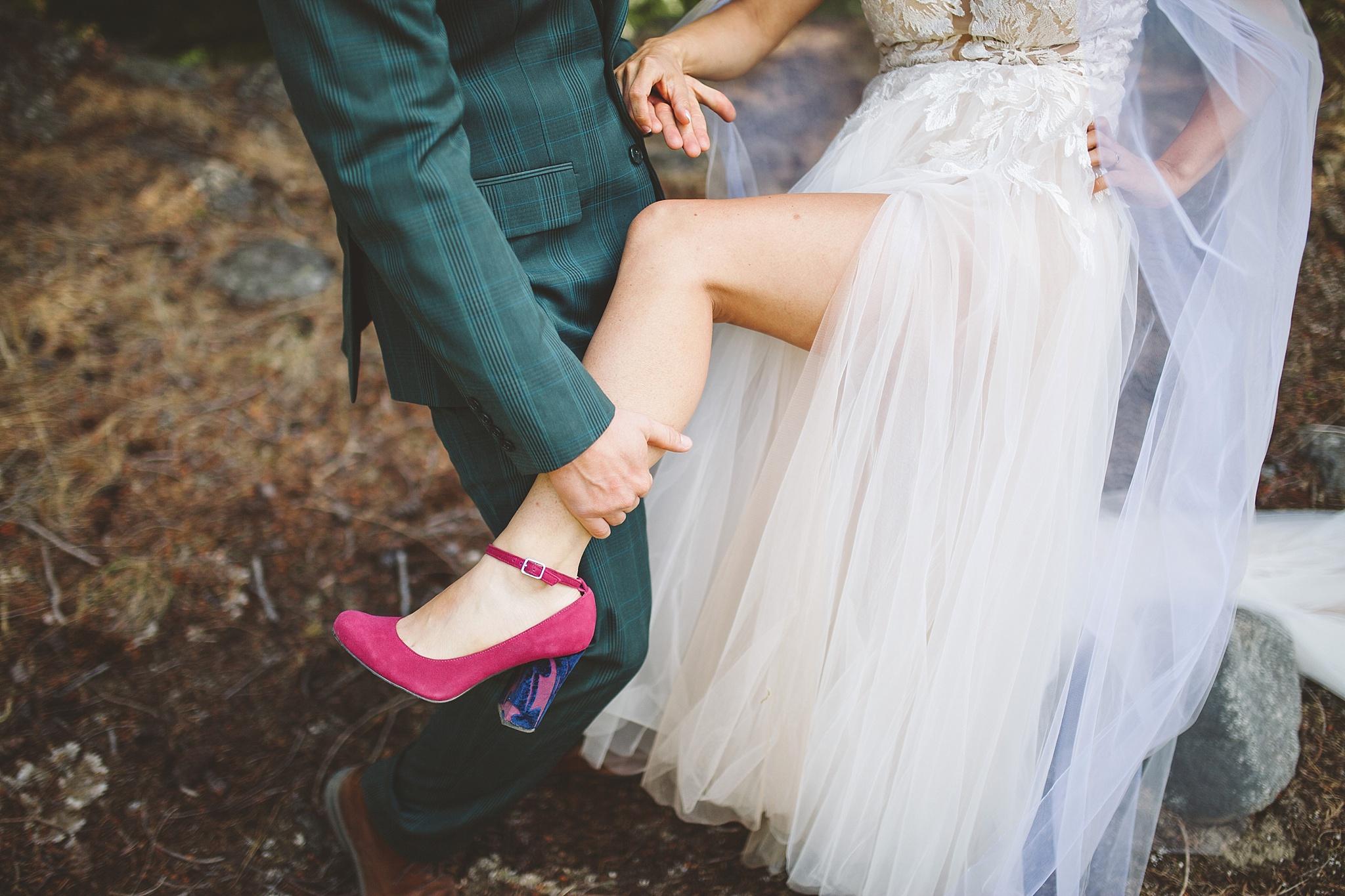 nontraditional wedding style washington bride