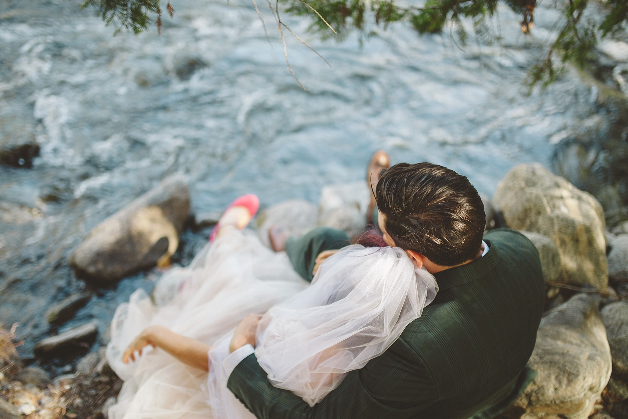wedding portraits by the river pnw