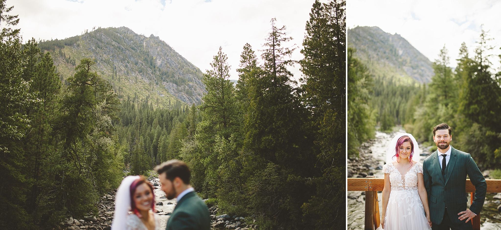 wedding in the woods of washington