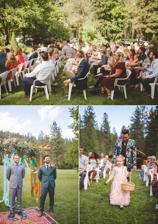 outdoor wedding in national park
