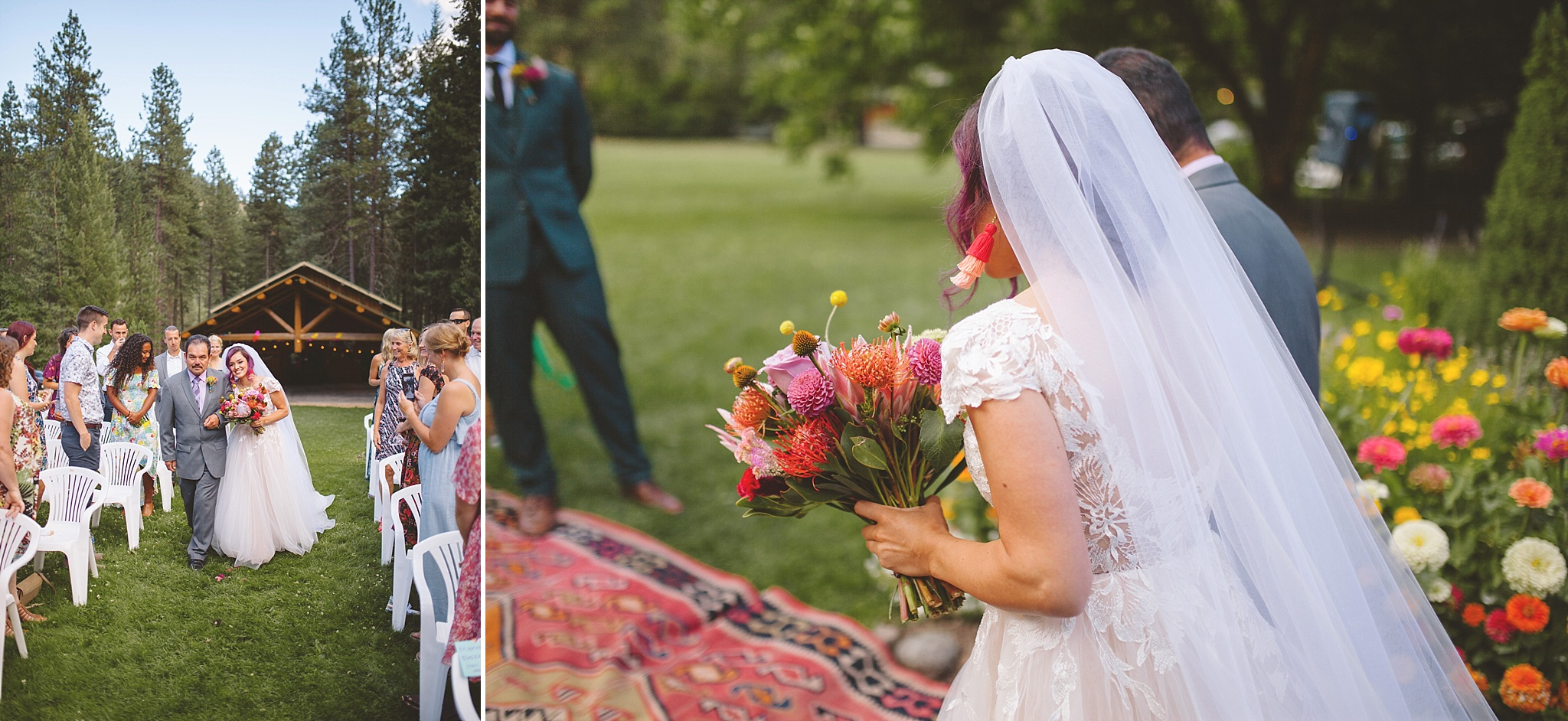 colorful outdoor elopement in the PNW