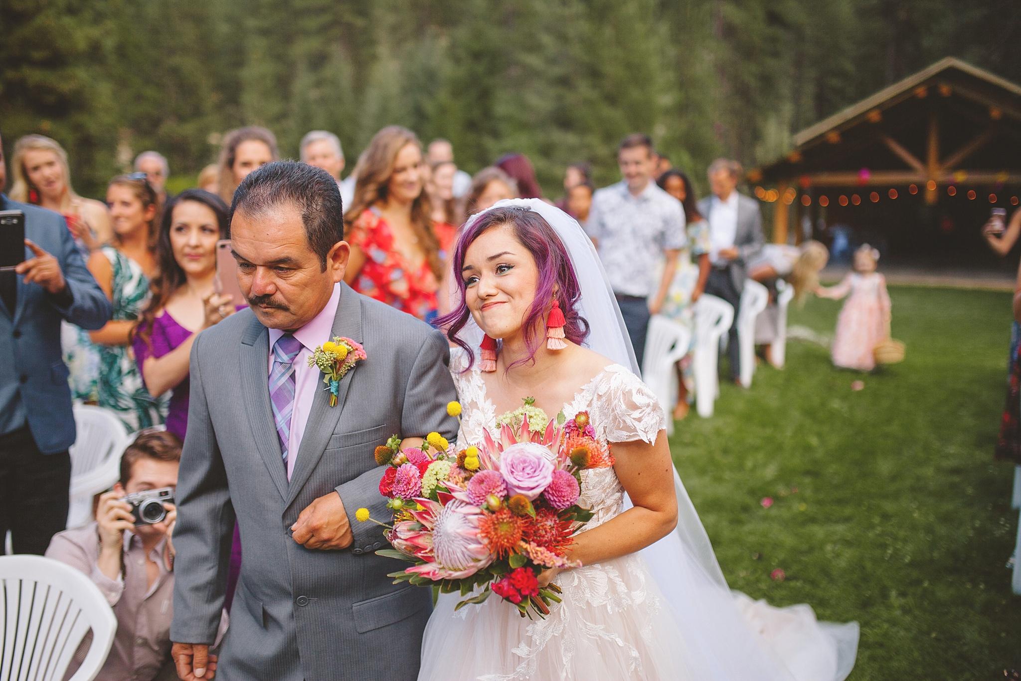 bride comes down the aisle washington