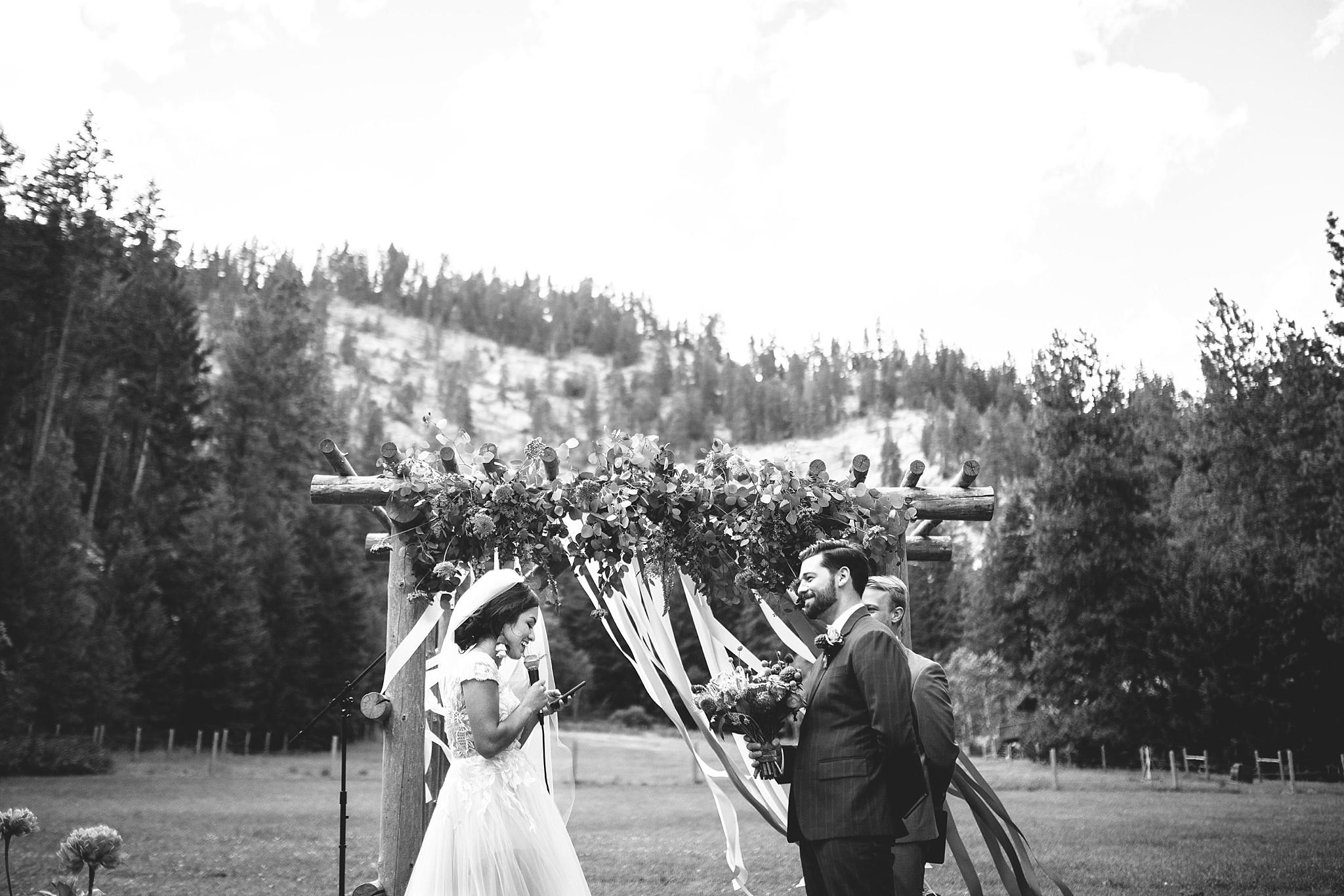 outdoor nature wedding ceremony
