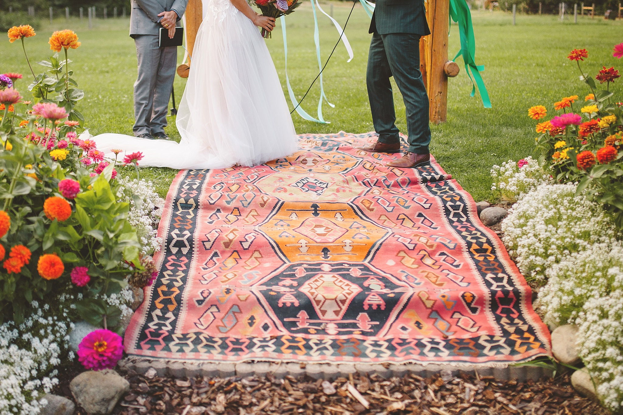 bohemian wedding ceremony decor