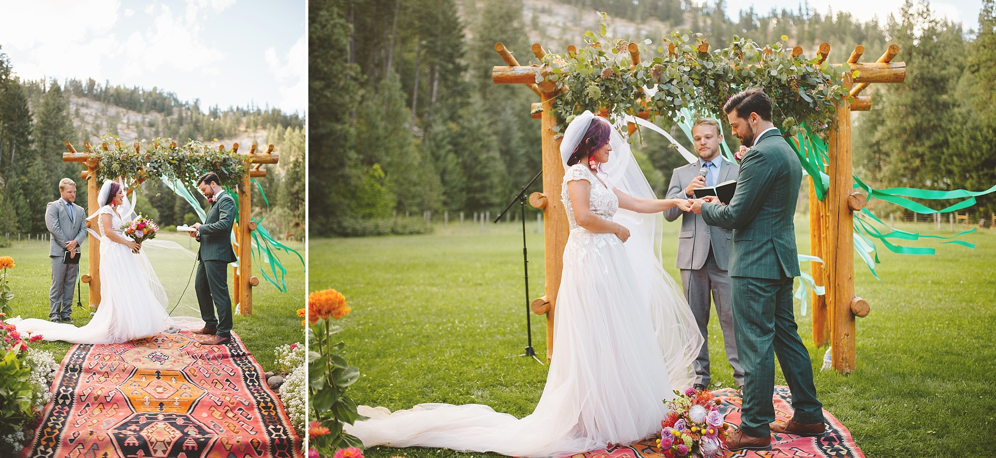 colorful bohemian wedding decoration