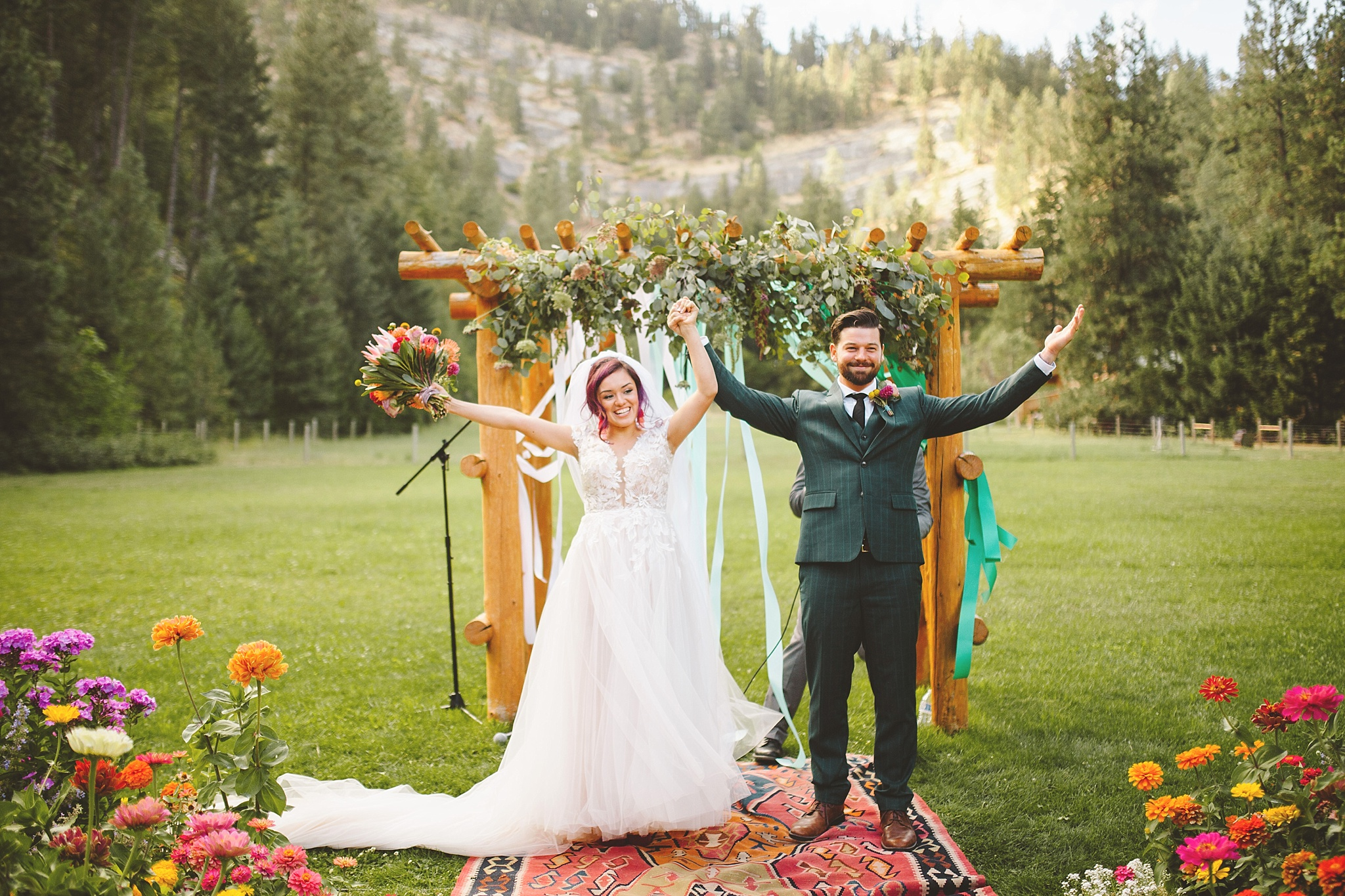 emotional grand exit at outdoor wedding wa