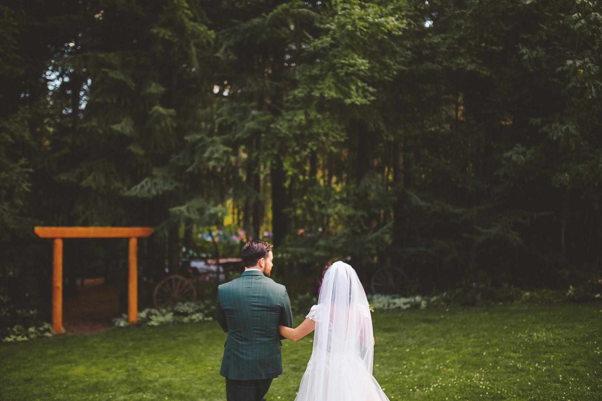 outdoor wedding in the woods