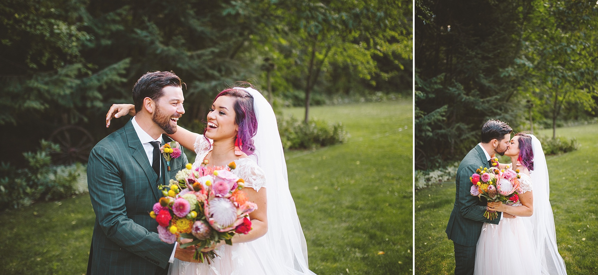 just married in the woods of washington