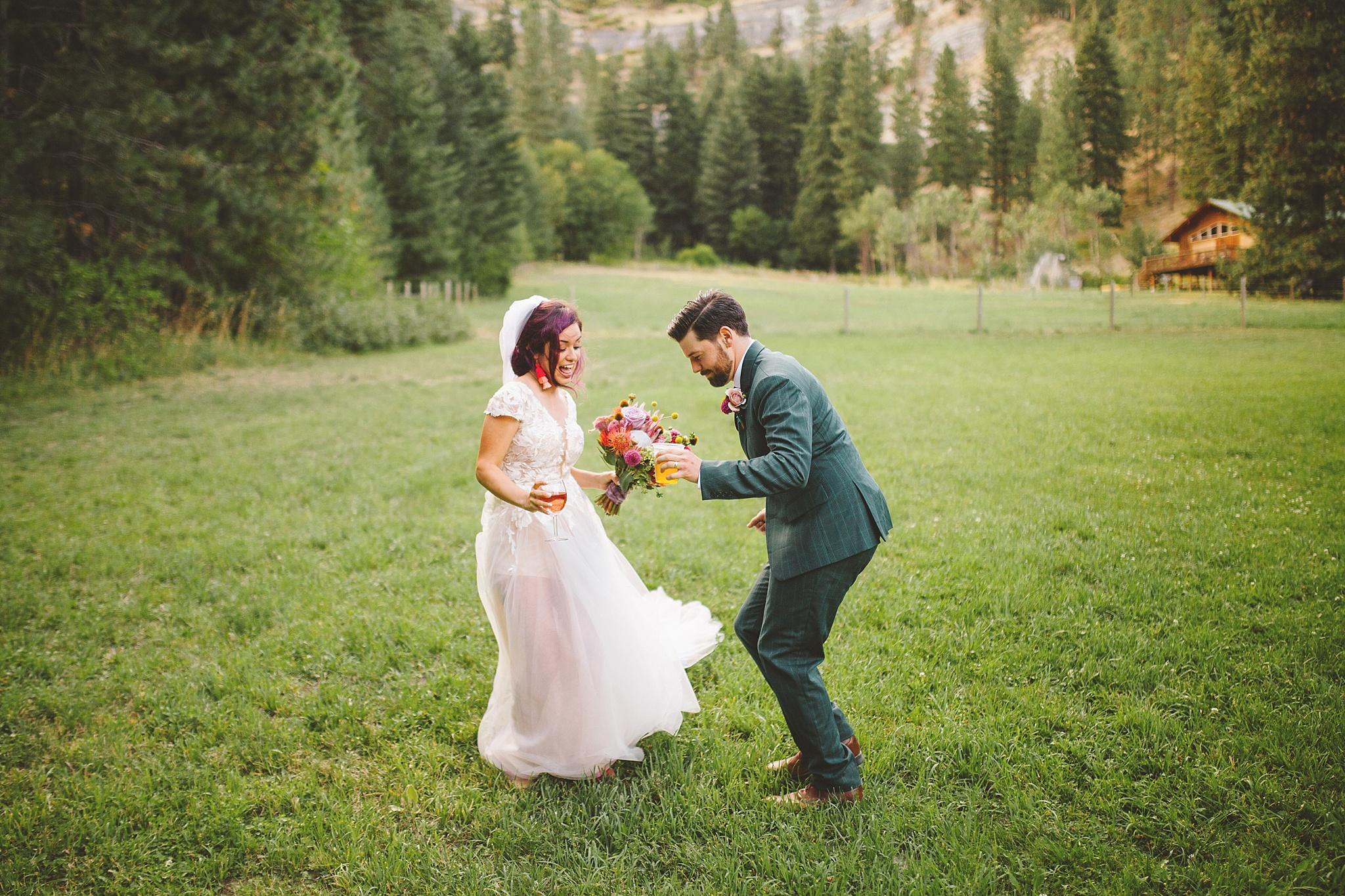 post wedding dance in the woods