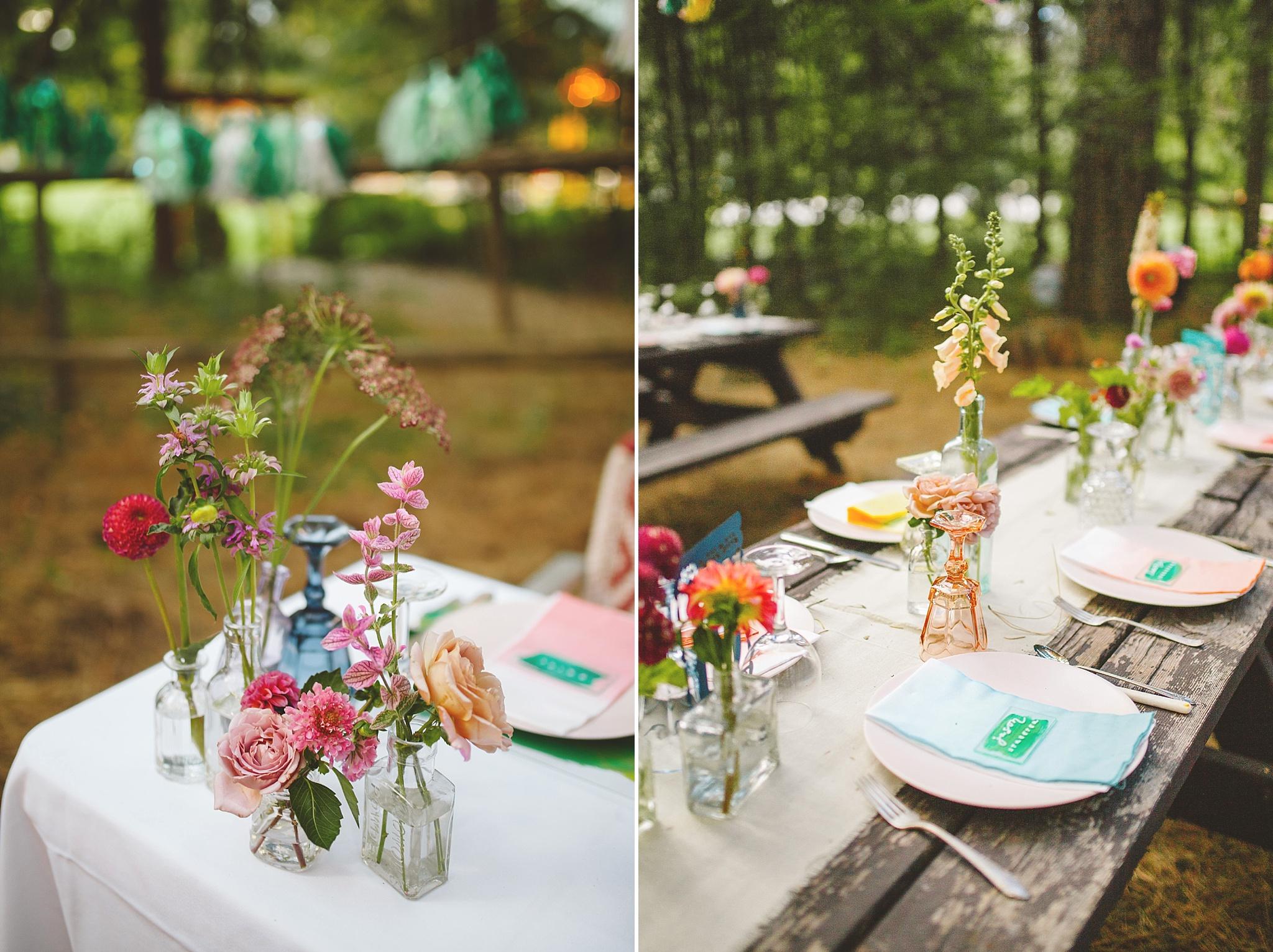 wedding details for woodland wedding reception