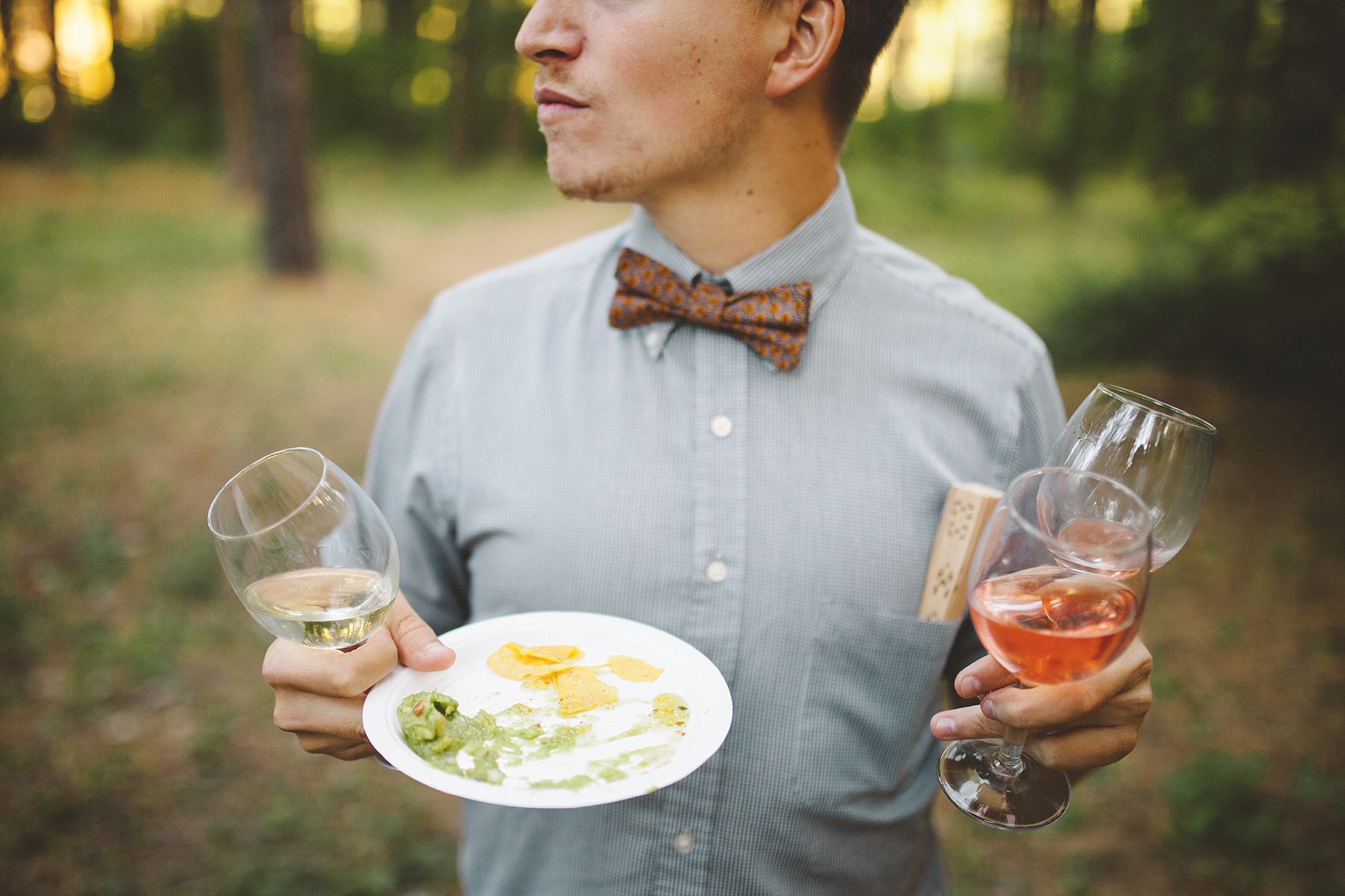 hipster wedding in the woods