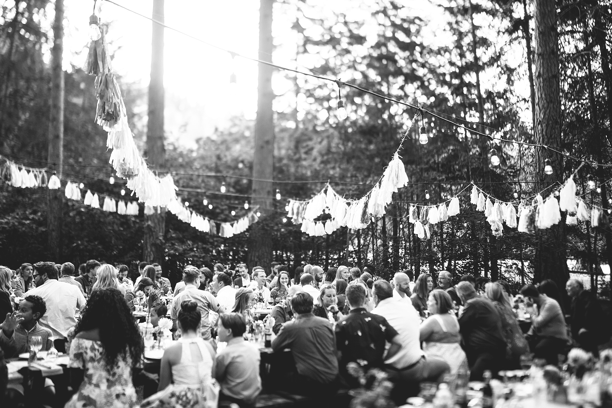 a hipster wedding in the woods near seattle