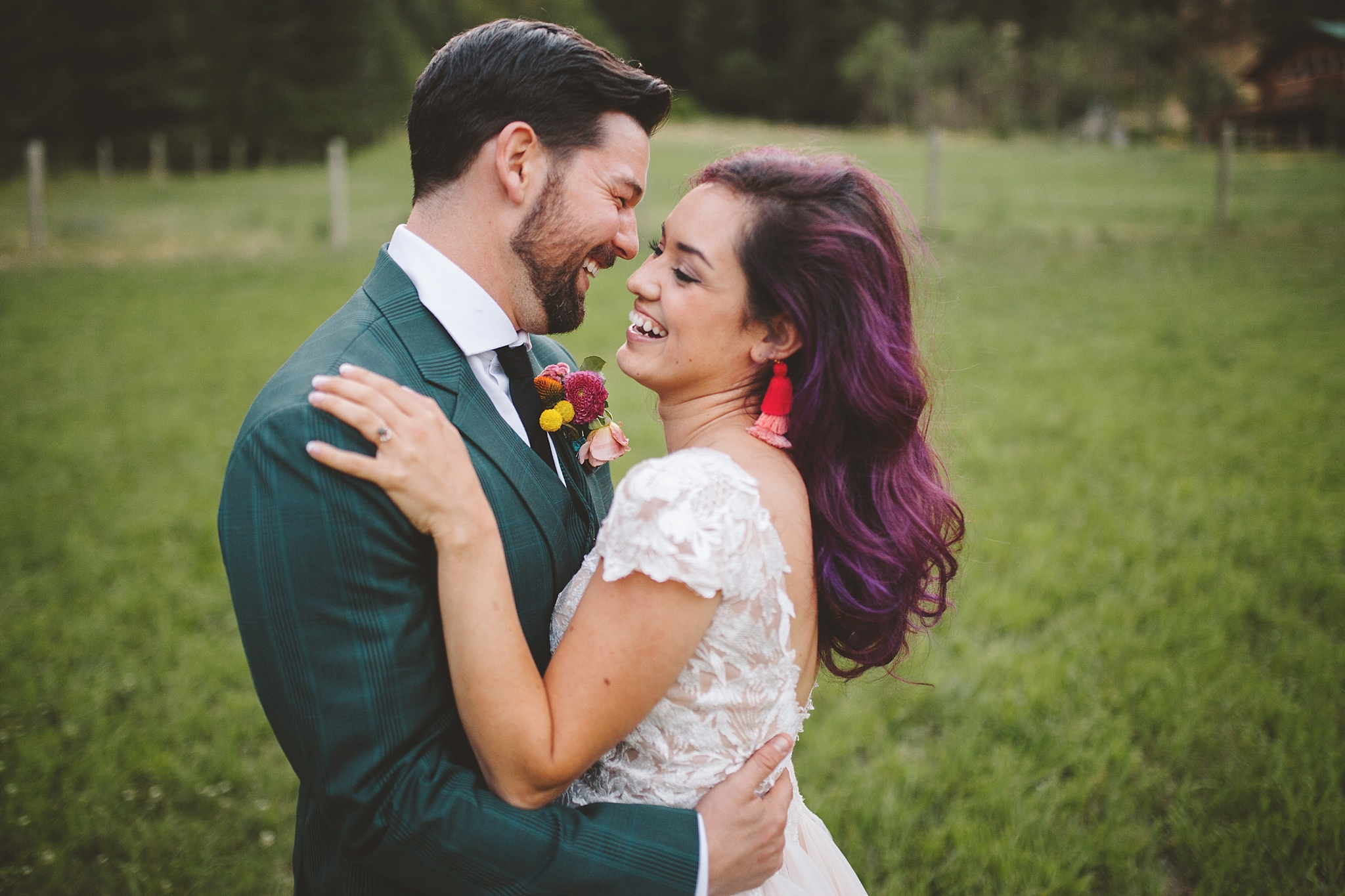 candid moments between bride and groom