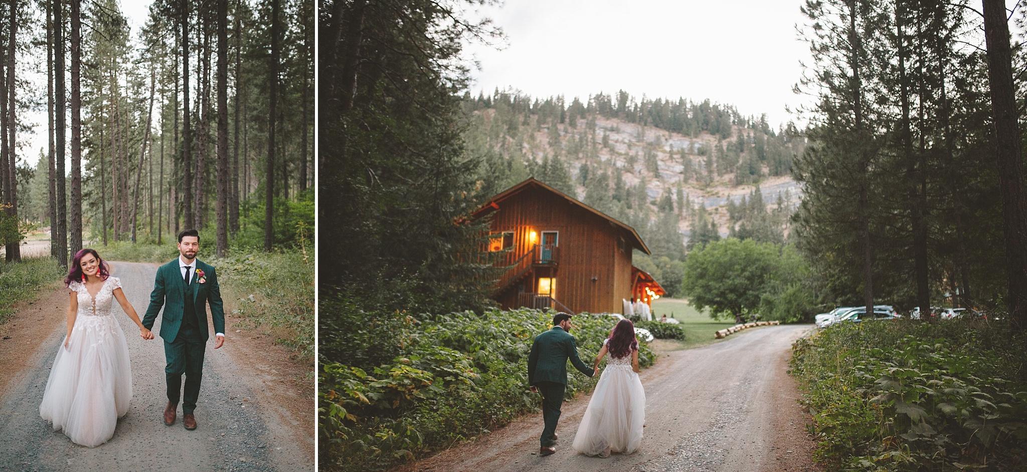 outdoor wedding venue in woods PNW