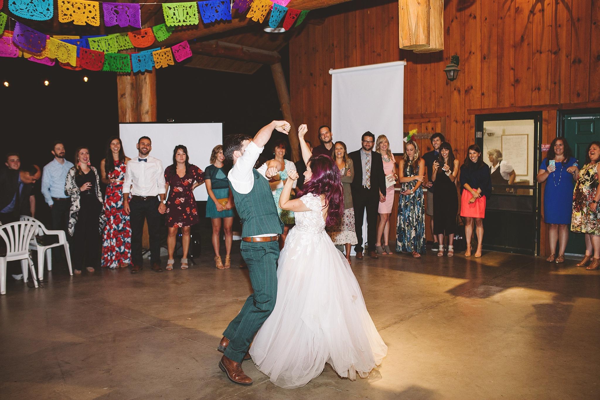 playful couple first dance