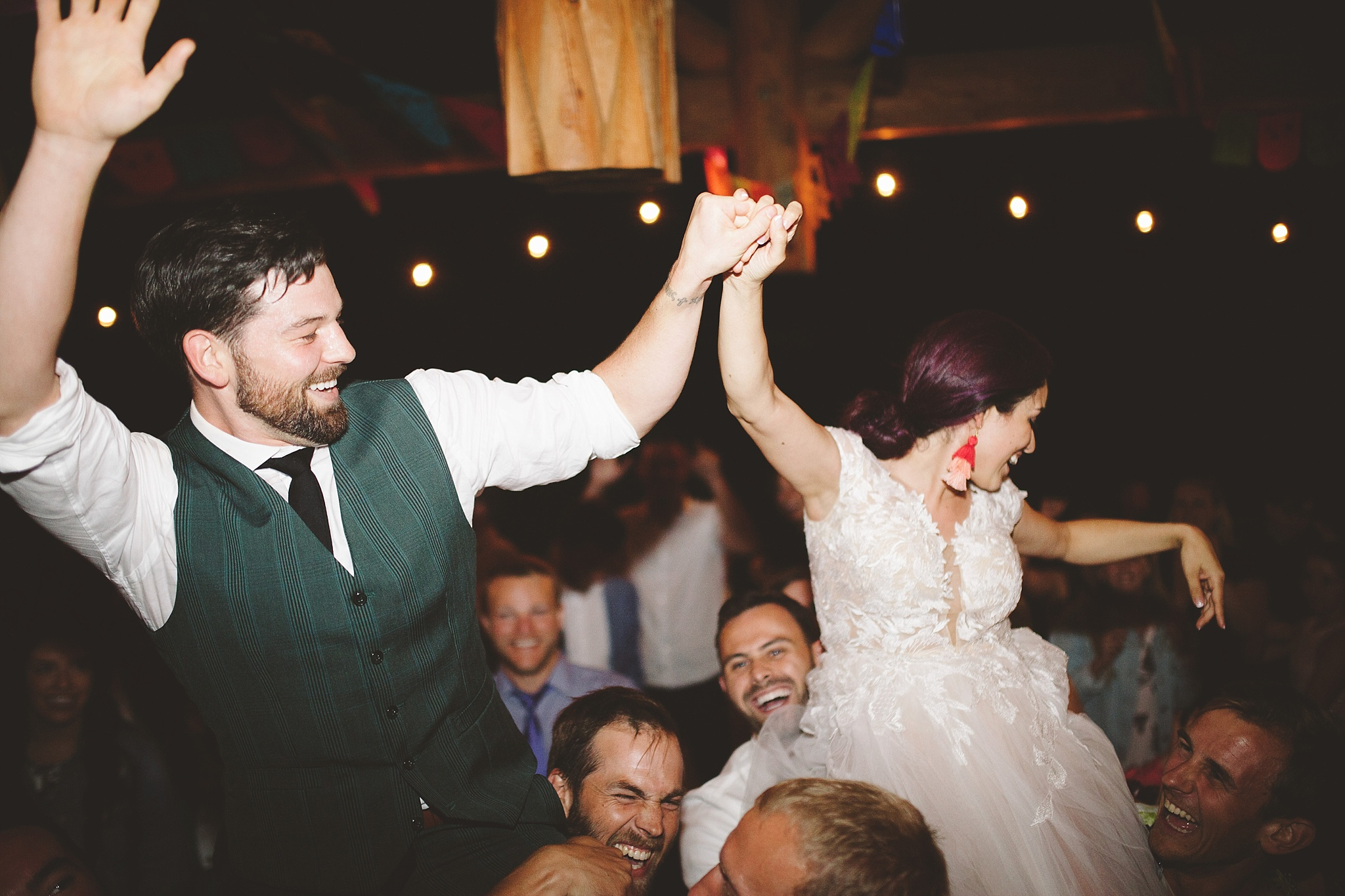 Red Tail canyon farm wedding in the woods of Washington