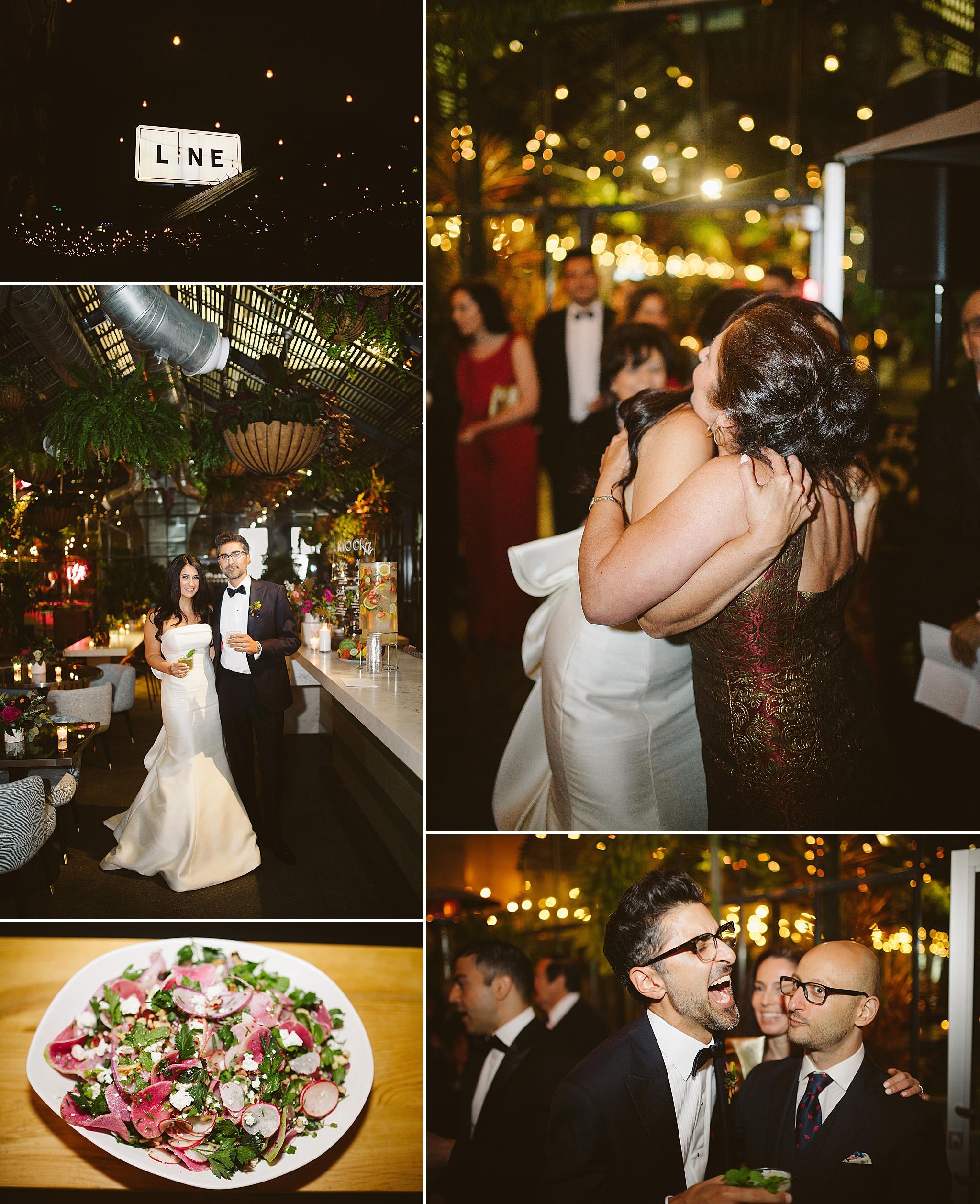 Openaire wedding reception LA rooftop venue
