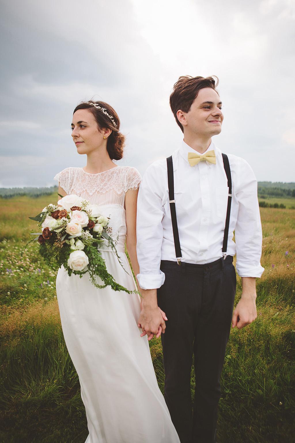 DIY woodland wedding in Maine