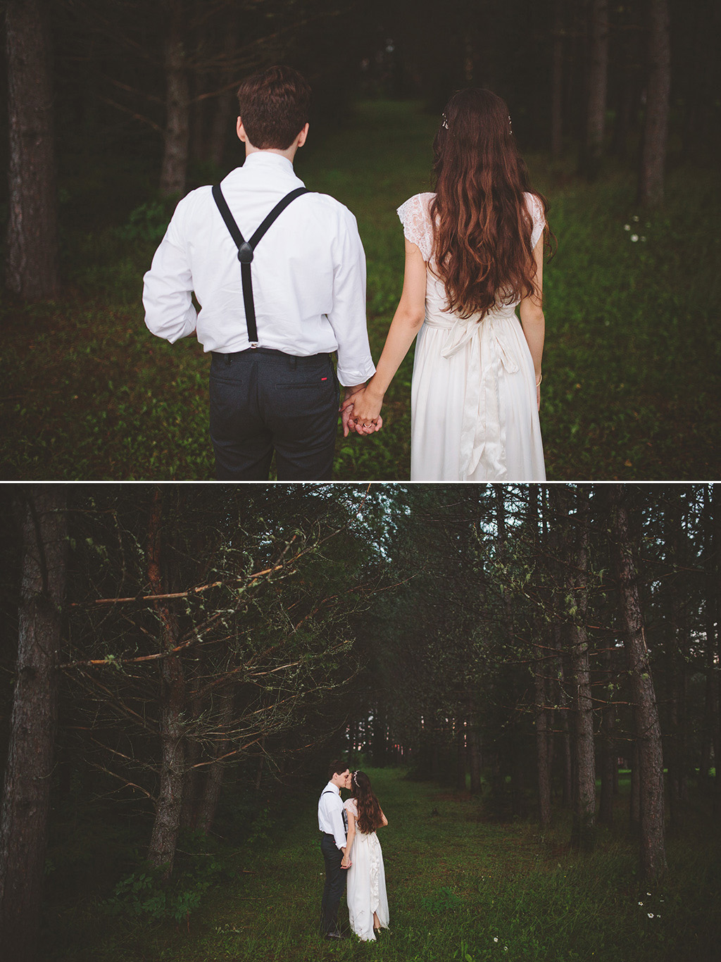 woodland Wedding Photographs in maine