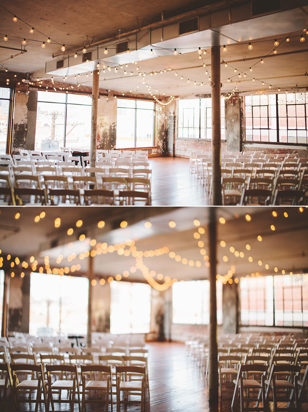 Ceremony space at The Bride and the Bauer Wedding