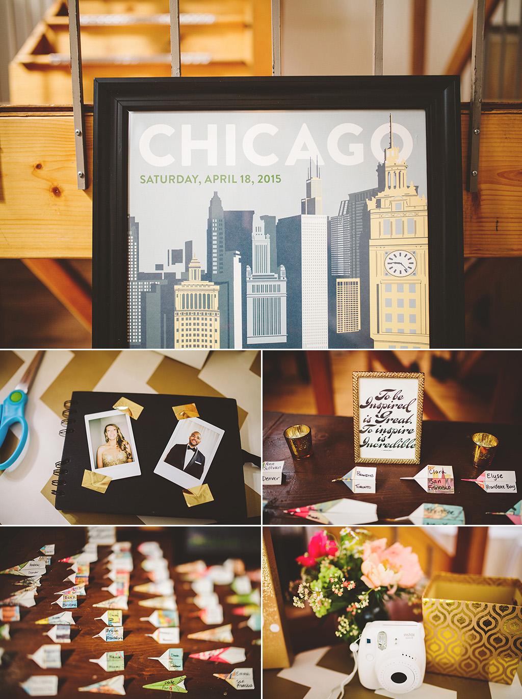 Kitchen Chicago wedding reception details