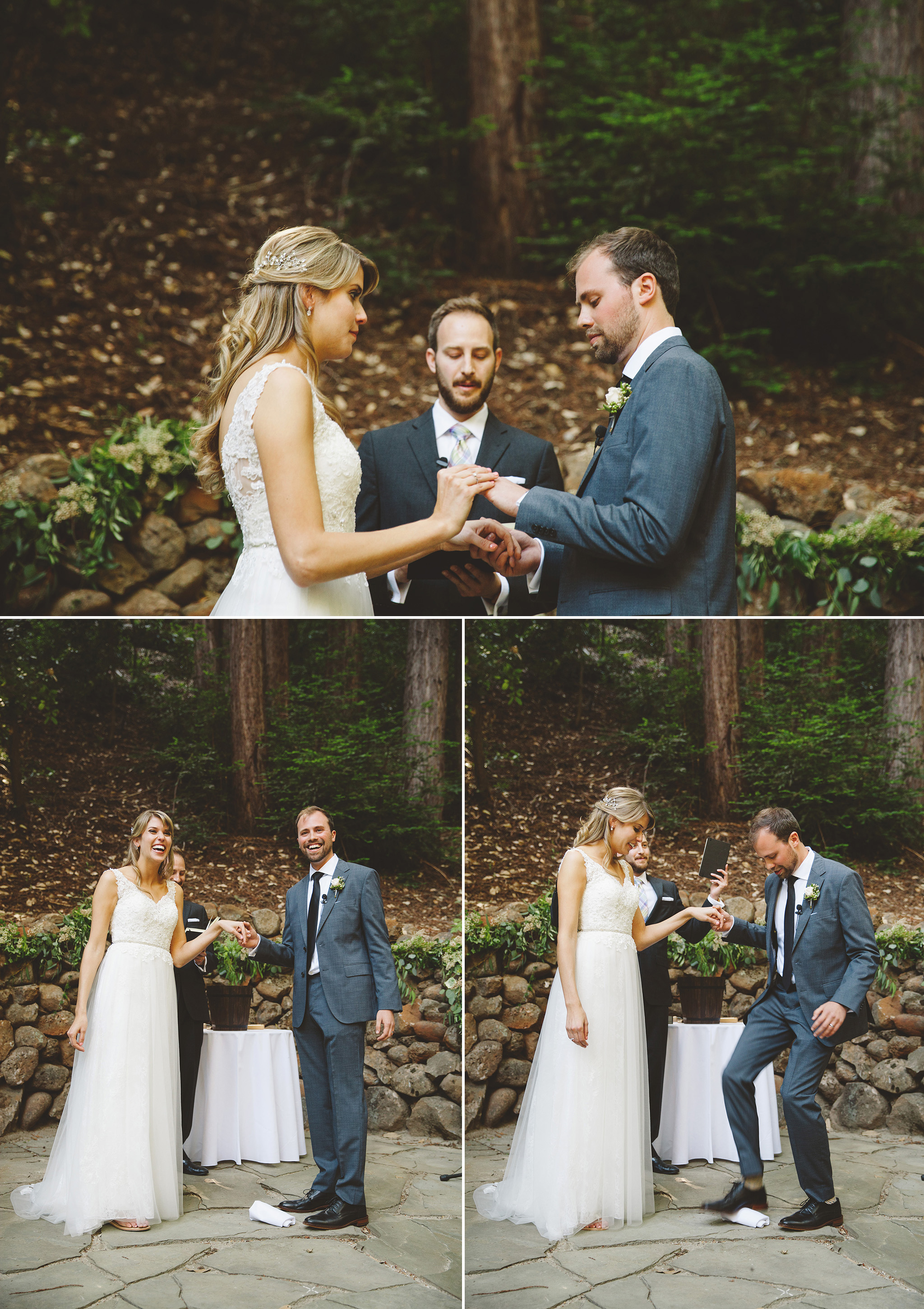 Santa Cruz California Wedding in the Redwoods