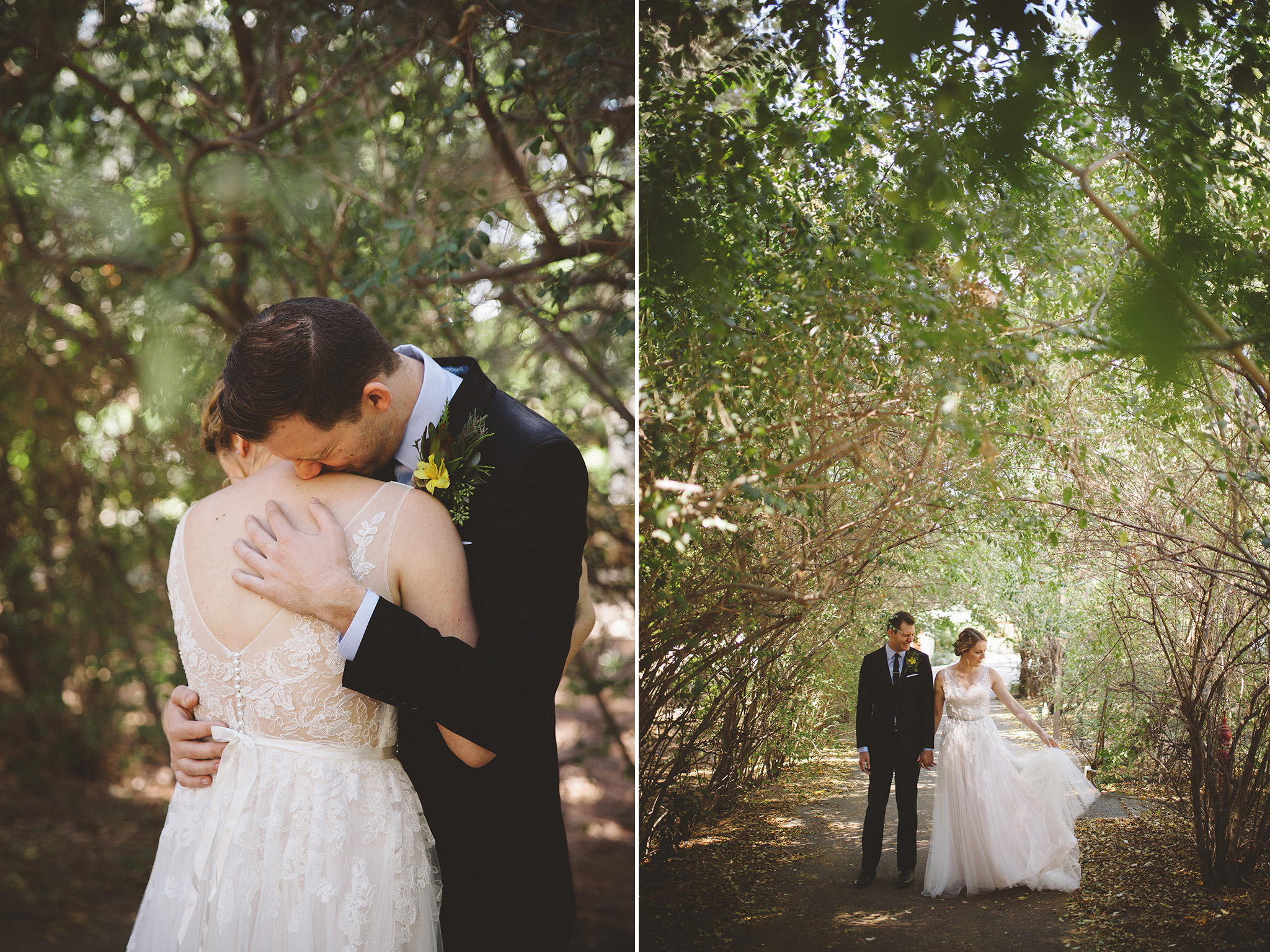 BoHo Highland Springs wedding pictures in California