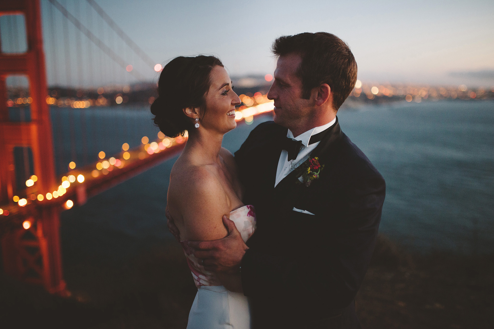 Cavallo Point Wedding pictures at the Golden Gate bridge