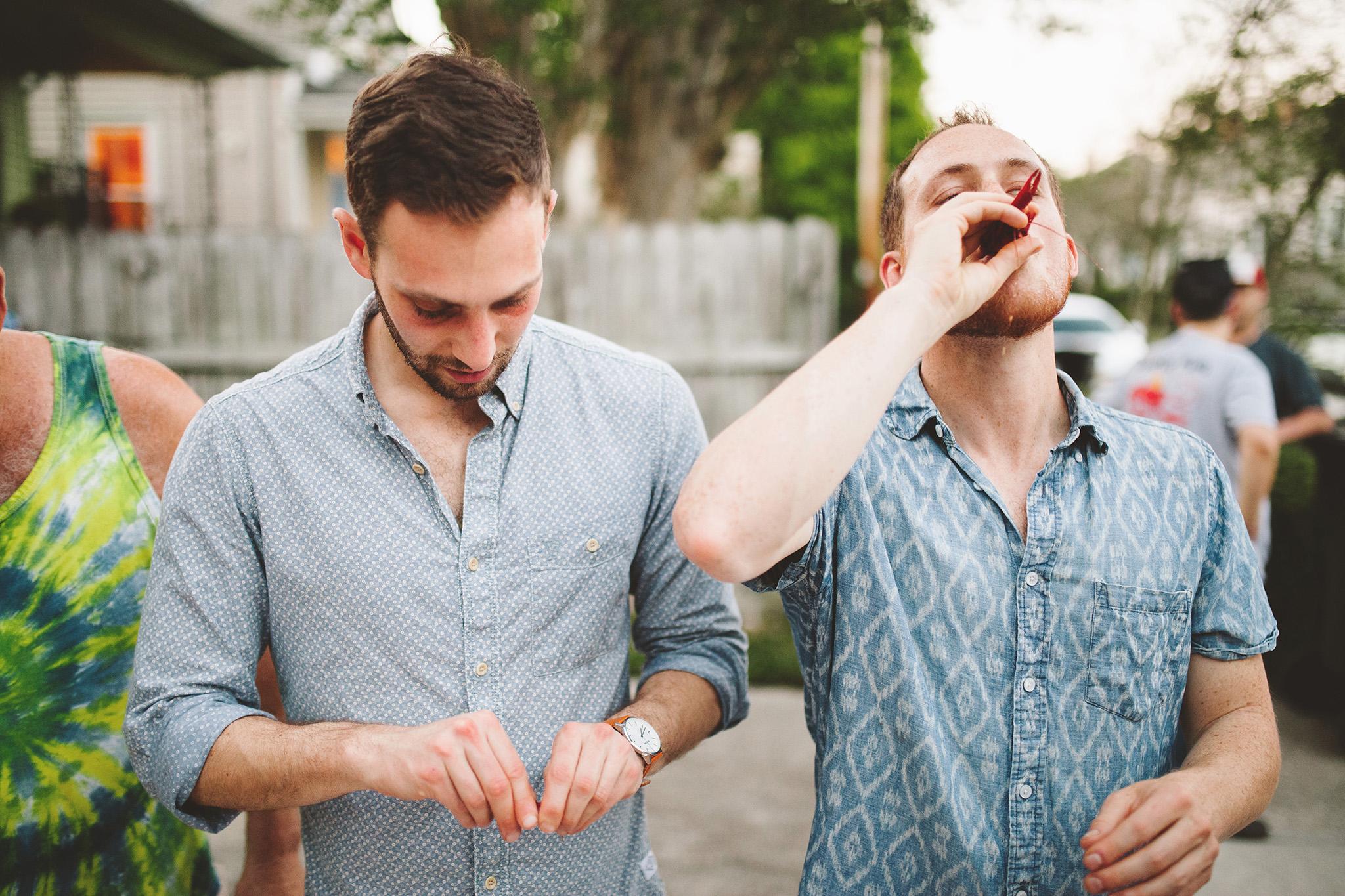 New Orleans Wedding crawfish boil