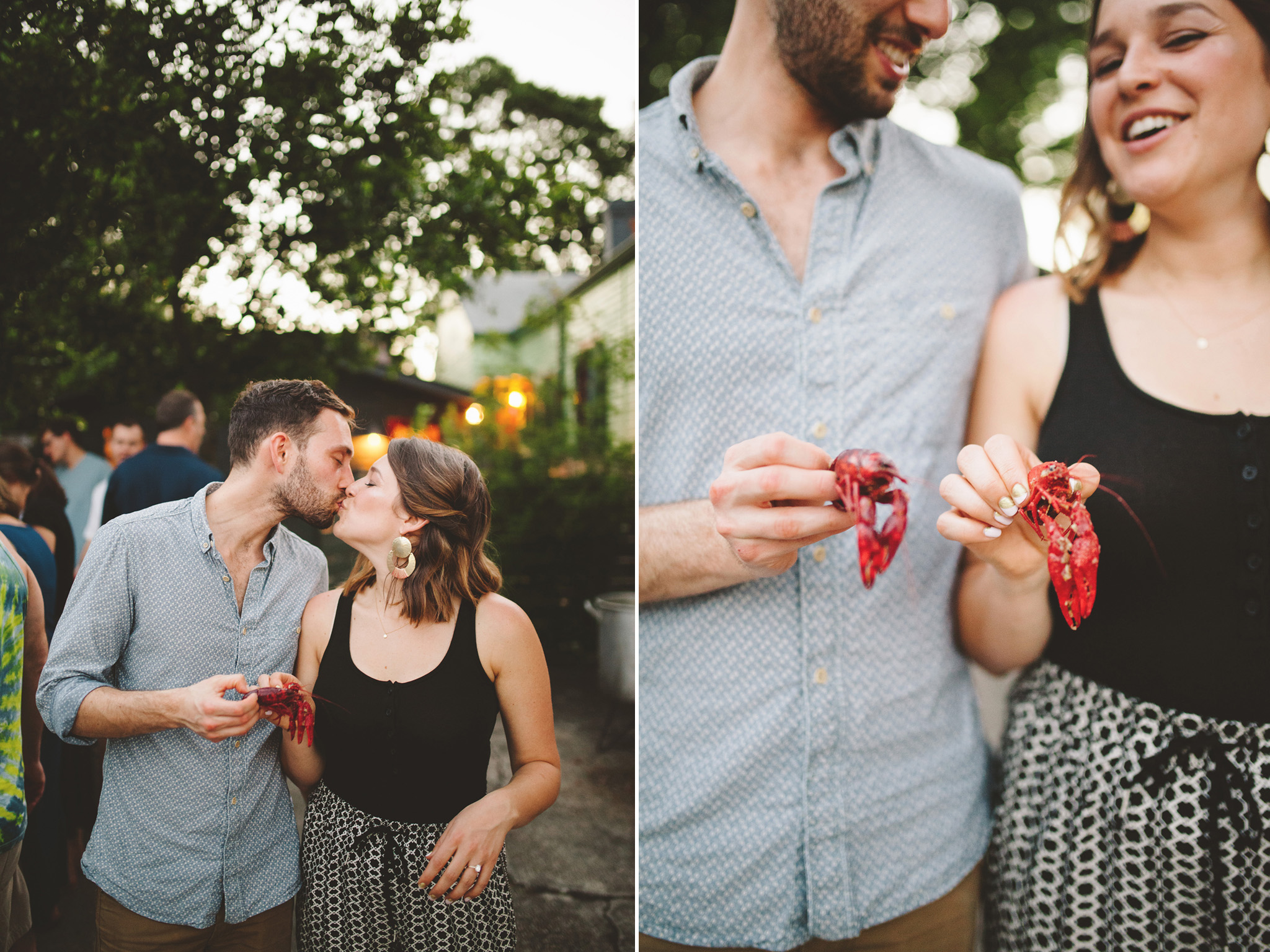New Orleans Wedding crawfish boil