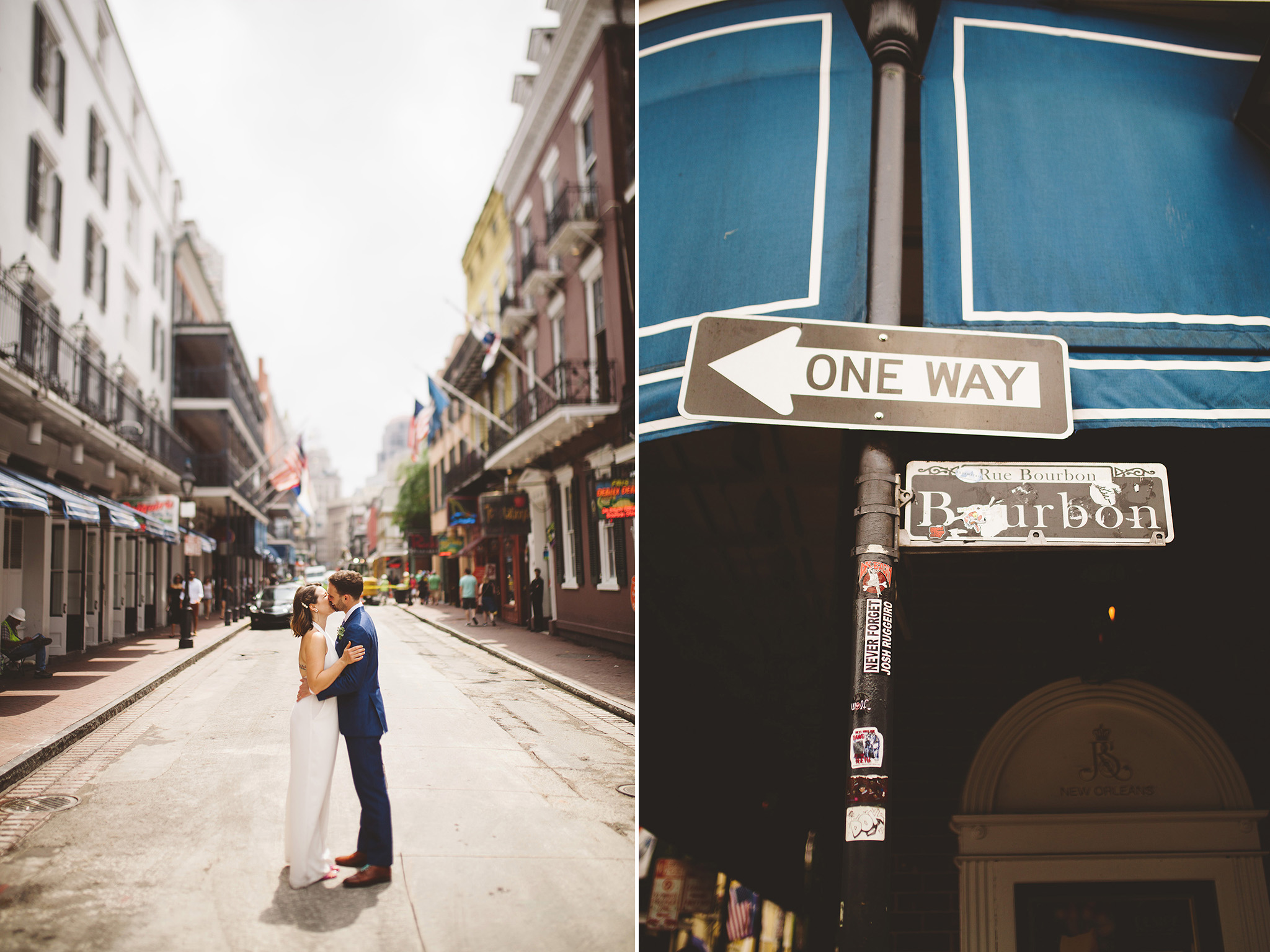New Orleans wedding elopement pictures in the French quarter