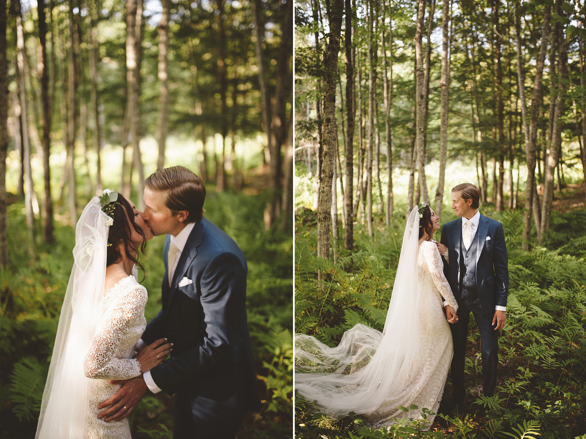 DIY Indigo Wedding In the Woods of Maine