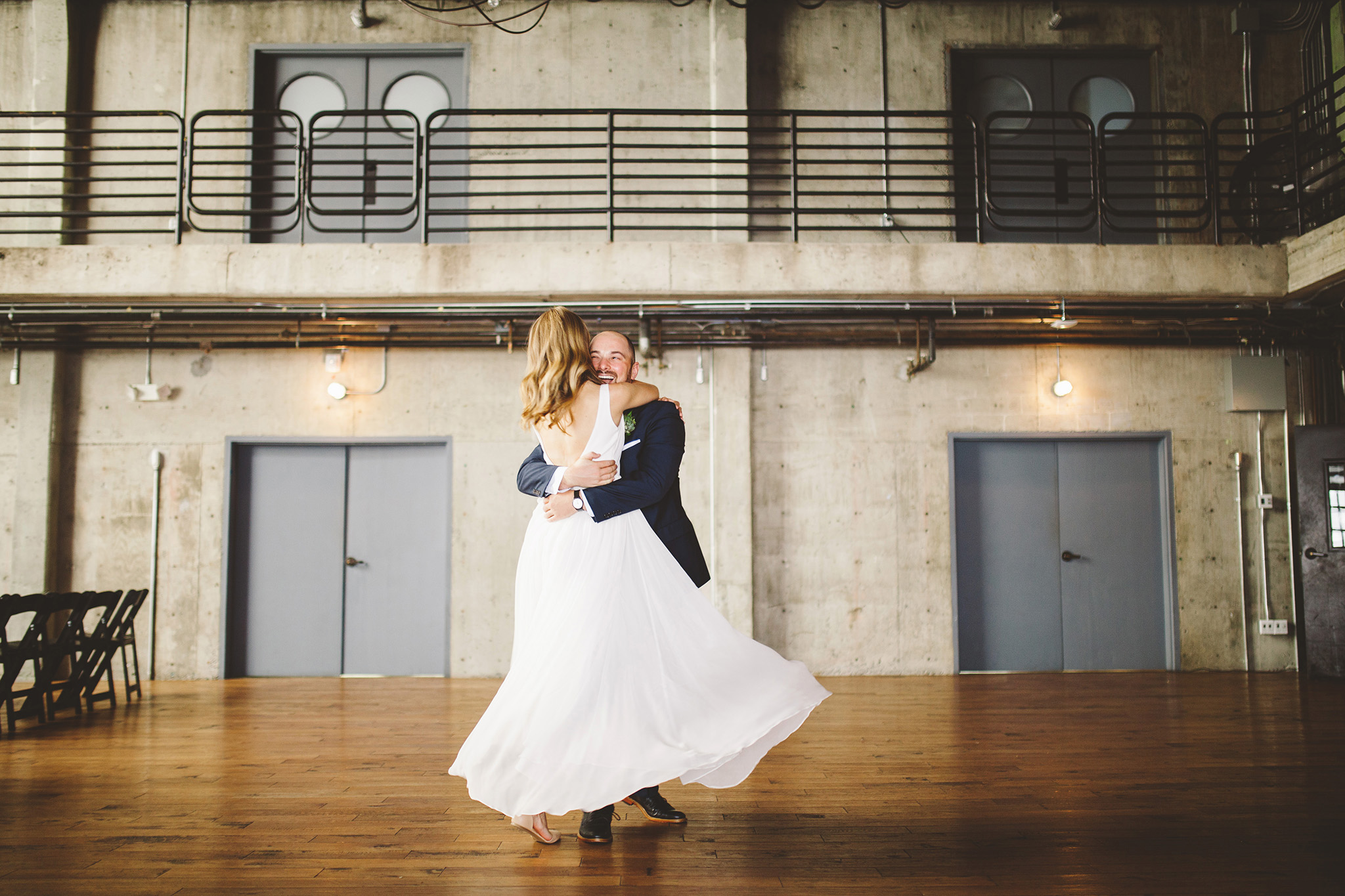 industrail modern and minimal wedding at Fremont Foundry Seattle