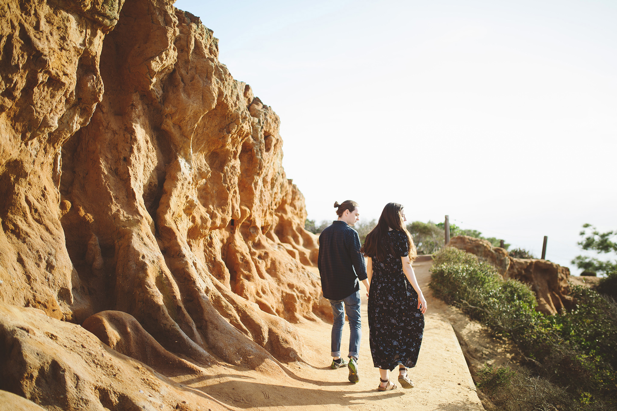 Nontraditional  Maternity pictures at Torrey Pines