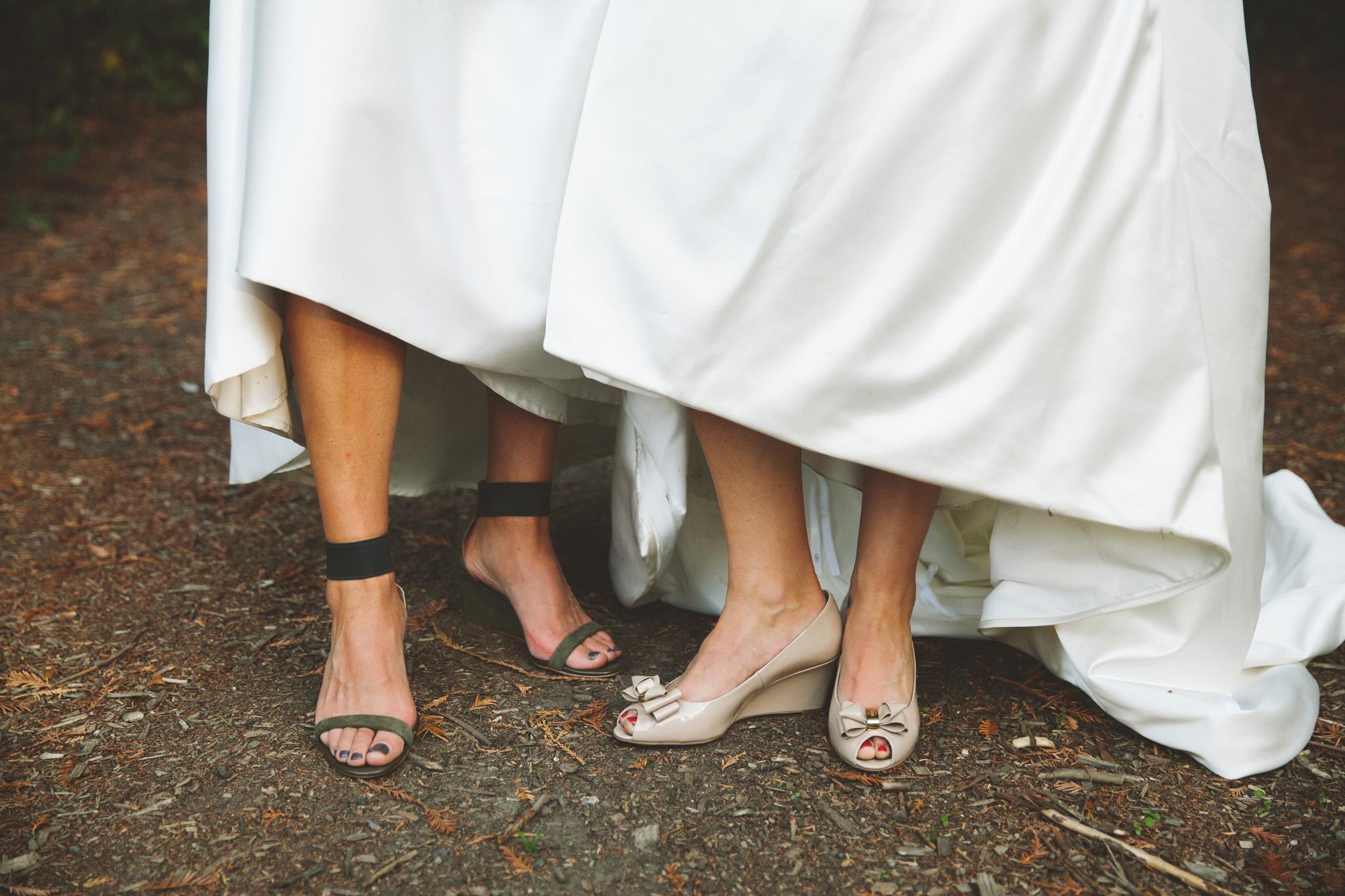 outdoor wedding Reception in the Redwoods at Dawn Ranch Guernevill wedding venue.