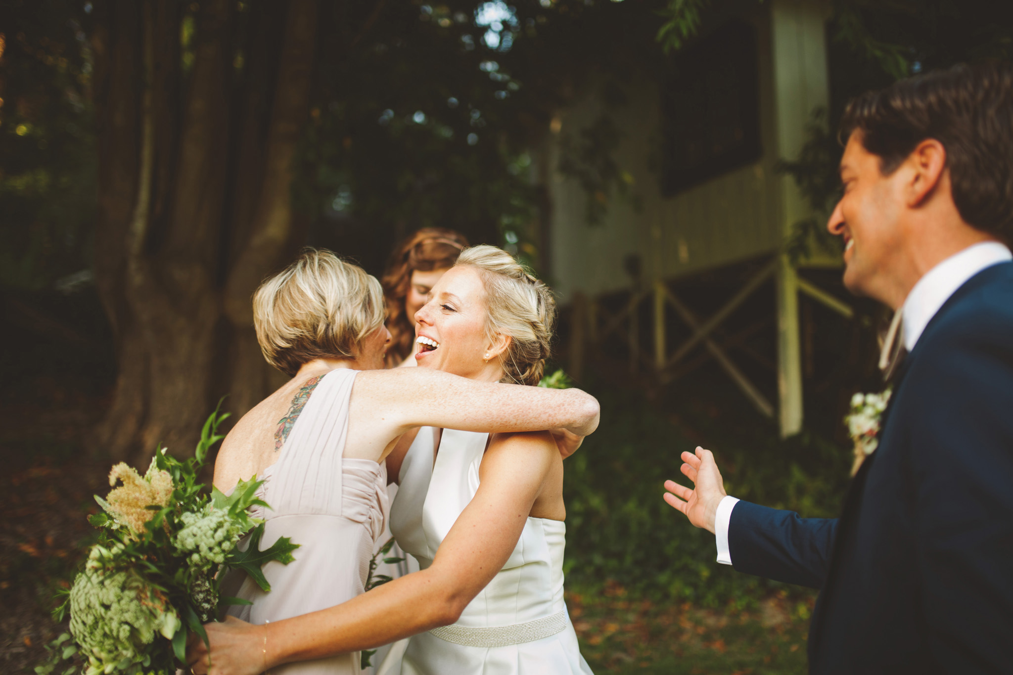 California outdoor ceremony pictures with redwoods . Dawn Ranch in Guerneville wedding pictures